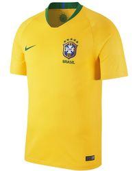 d92381cd8d67e8 Nike - 2018 Brasil Cbf Stadium Home Men s Soccer Jersey - Lyst