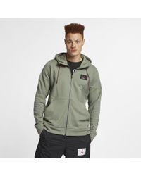 8fff55c2a3446b Nike Nike Air Jordan 3 Flight Fleece Full-zip Hoodie in White for ...