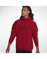 0efdc953c6937b Nike - Jordan Sportswear Wings Of Flight Sherpa Pullover Hoodie - Lyst