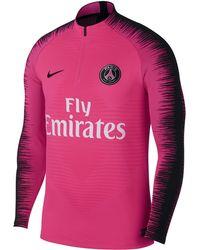Nike Paris Saint-germain Vaporknit Strike Drill Long-sleeve Football Top