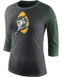 Lyst - Nike Tri-blend Victory Raglan (nfl Packers) Women s Shirt 5e580bc1a