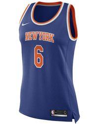 Nike - Kristaps Porzingis Icon Edition Swingman Jersey (new York Knicks) Women's Nba Connected Jersey - Lyst