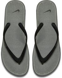 53ab8277c078 Nike Solarsoft Ii Flip-flops In Grey 488160-069 in Blue for Men - Lyst