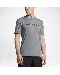 12717852e09be2 Lyst - Nike Dry Men s Running T-shirt in Black for Men