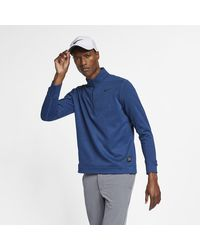 Nike Therma Repel 1/2-zip Golf Top - Blue