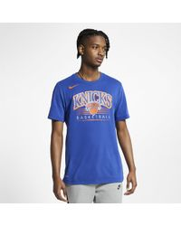 2ecfb9bf6a9 Nike New York Knicks City Edition Tee in Blue for Men - Lyst