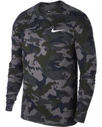 Nike - Dri-fit Legend Long-sleeve Camo Training Top - Lyst