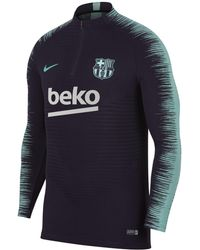 Nike - Fc Barcelona Vaporknit Strike Drill Long-sleeve Football Top - Lyst