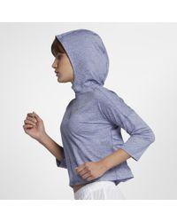 cheaper 2efc3 0be7c Nike - Element Women s Running Hoodie - Lyst