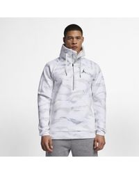 865a7252534b37 Nike Jordan Sportswear Flight Tech Camo Anorak in Black for Men - Lyst