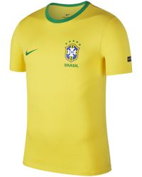 Nike - Brazil Cbf Crest T-shirt - Lyst