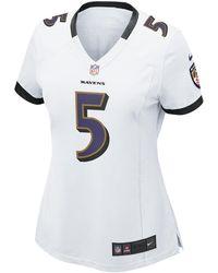 Nike - Nfl Baltimore Ravens (joe Flacco) Women s Football Away Game Jersey  - Lyst bdeb49cd8