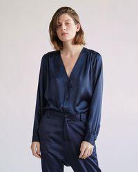 Nili Lotan - Elsie Silk Shirt - Lyst