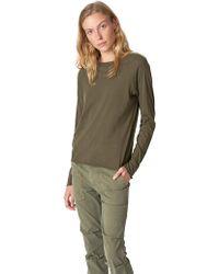 Nili Lotan - Army Green Long Sleeve Baseball Tee - Lyst