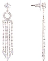 Nina - Shiloh Earring-white Gold - Lyst
