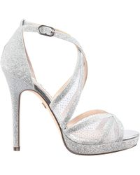 Nina - Fenna Glitter Strappy Dress Sandals - Lyst