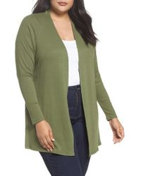 Sejour | Easy Long Open Front Cardigan | Lyst