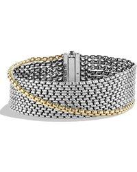 David Yurman - Chain Box Chain Eight-row Bracelet With Gold - Lyst