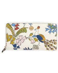 Tory Burch - Robinson Floral Leather Continental Wallet - Lyst