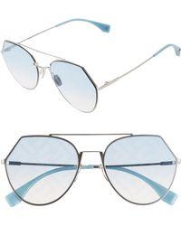 2edfe34f4b65e Fendi Eyeline 55mm Sunglasses in Black - Lyst