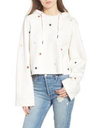 Pam & Gela - Crop Hooded Sweatshirt - Lyst