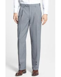 Berle - Self Sizer Waist Pleated Trousers - Lyst
