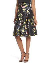 Eliza J - Floral A-line Skirt - Lyst