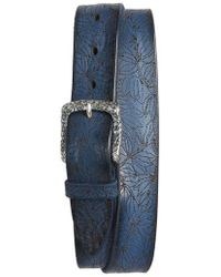 Orciani - Stain Perforated Leather Belt - Lyst