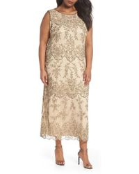 Pisarro Nights - Embellished Bateau Neck Long Dress - Lyst