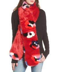 Heurueh - Floral Faux Fur Stole - Lyst