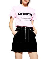 TOPSHOP - Stereotype Tee - Lyst