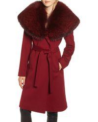 Fleurette - Loro Piana Wool Coat With Genuine Fox Fur Trim - Lyst