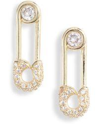Melinda Maria - Safety Pin Earrings - Lyst