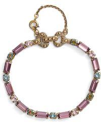 Sorrelli - Line & Dot Crystal Bracelet - Lyst