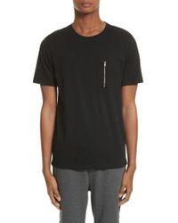 The Kooples - Zip Pocket T-shirt - Lyst
