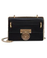 Balmain - Glace Leather Medium Box Bag - - Lyst