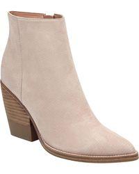 Marc Fisher - Women's Bellen Stacked-heel Leather Booties - Lyst