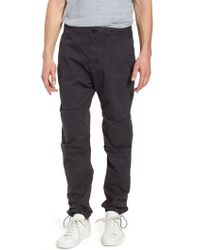James Perse - Relaxed Fit Cotton Twill Pants - Lyst
