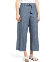Kenneth Cole - Wide Leg Crop Pants - Lyst