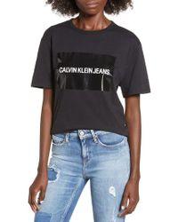 Calvin Klein - Blocked Gel Logo Tee - Lyst