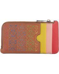 Loewe - Rainbow Logo Leather Card Case - Lyst