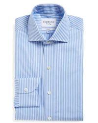 Ledbury - 'blue Banker' Slim Fit Stripe Dress Shirt - Lyst