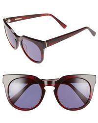 Derek Lam   'stella' 51mm Round Sunglasses   Lyst