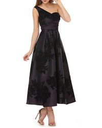 Kay Unger - Mikado One-shoulder Gown - Lyst