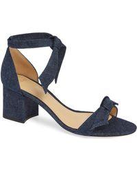 5e850bf1bc11 Lyst - Alexandre Birman Velvet Mary Jane Block-heel Sandals in Natural