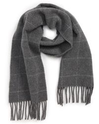 Polo Ralph Lauren - Reversible Windowpane Wool Blend Scarf - Lyst