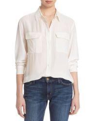 Equipment - 'signature' Silk Shirt - Lyst