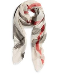 Burberry - Brit Sheer Mega Check Scarf - Lyst