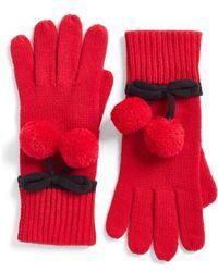 Kate Spade - Bow Pom Gloves - Lyst