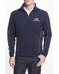 Cutter & Buck - 'seattle Seahawks - Edge' Drytec Moisture Wicking Half Zip Pullover - Lyst